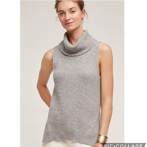 EUC Angels Of North grey cowed neck sweater tank